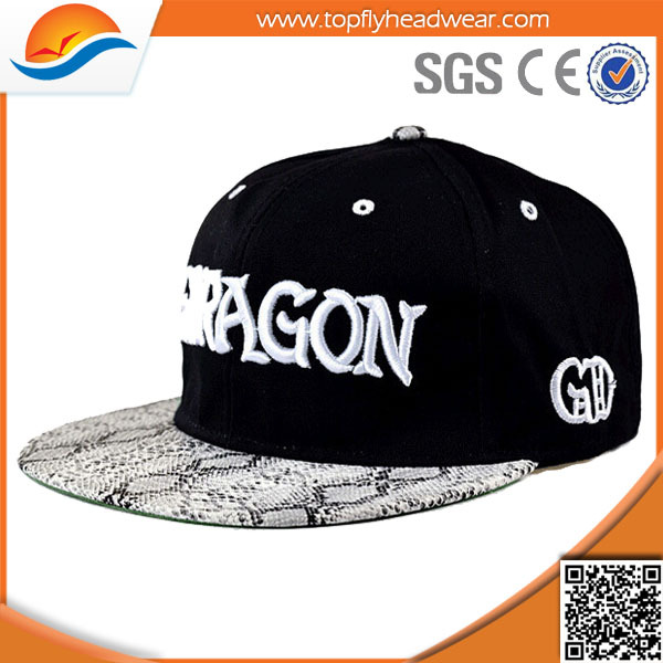 cheap custom embroidery snapback hat/high quality hip hop hats sale