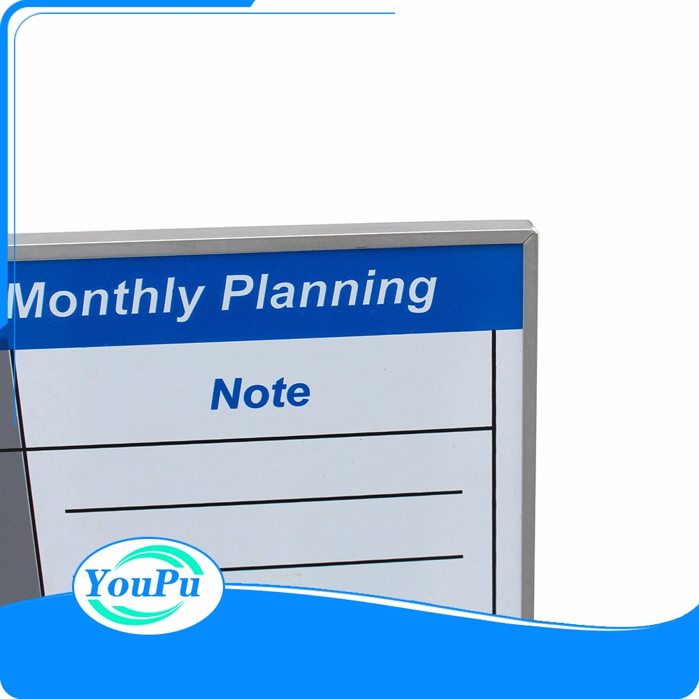 Non-toxic Monthly Planner Melamine Dry Erase Board White Board