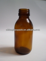 amber medical bottle injection liquid drugs