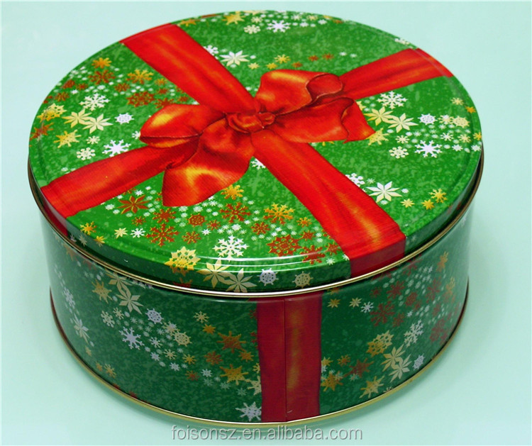 OEM design good quality round shape pizza tin box