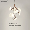 MEEROSEE New Arrival Decorative Lighting Modern Glass Pendant Lamp Flower Branch Shape Hanging Lamp for Restaurant MD85432-L8