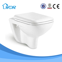 Ceramic wall mounted hung toilet with hidden toilet water tank