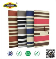 Printing Canvas PU Leather Wallet Phone Case With Card Slots For iphone
