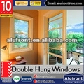 Manual blinds and security mesh aluminium double hung window with chain winder