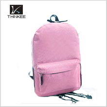 12 colors Cheap Daily pack with mesh pocket Promotional school bags 600D School backpack