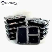 3 Compartment Food Storage Containers with Leak resistant Lid, Microwave Kitchen storage containers