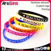 cheap custom segmented personalized silicone bracelets