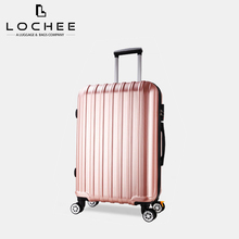 "Plastic 22 24"" Hardtop Lady Cheap Lightweight Suitcase On Wheel"