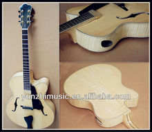 17 inch Fully handmade solid wood carved maple wood archtop guitar