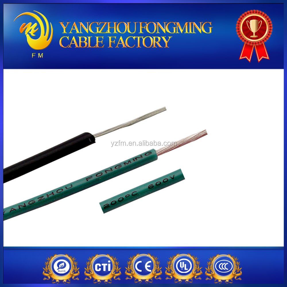 Silicone insulated copper electric wire and cable
