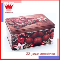 wholesale magnetic new rectangular exquisite decorative christmas tin box for gift