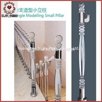 Outdoor Banister Acrylic Staircase Plastic Stair Railing For Decoration House Acrylic Pillars