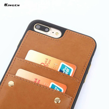 Luxury Slim Leather Card Holder Wallet Back Case Cover Card Slot Leather Phone Case