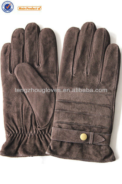 Fashion, Winter Warm, Genuine Pigsude Leather Gloves