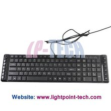 Multimedia 105 Keys Wired Ultra-thin Laptop Keyboard