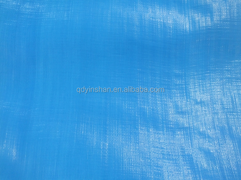non slip plastic sheet tarpaulin HDPE material blue/white colour 3 feets eyelet waterproof sunscreen antioxidant factory hotsell