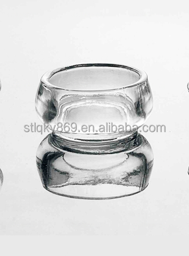 LYE010 clear unique design home use small crystal candle holder candle stand glass candle containers for decoration