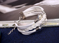 New arrival hot sale white braided leather bracelet for women