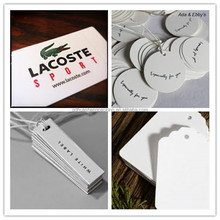 High quality best price printed white garment hang tags