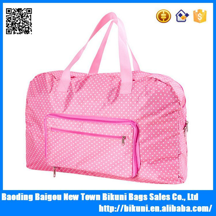 High quality lightweight folding duffle bag for outdoor travel made in China