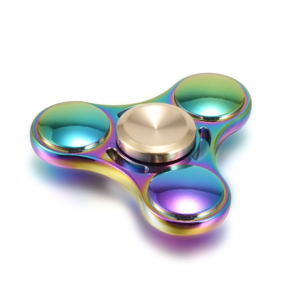 Ufo rainbow tri spinner fast speed hand spinner for anti stress toy