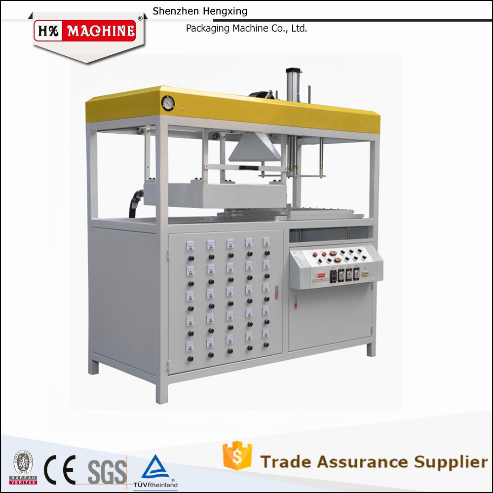 Hot Sale plastic vacuum forming machine for recyclable food container CE Approved
