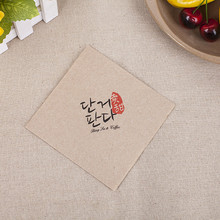 High quality folding designs linen napkins with logo
