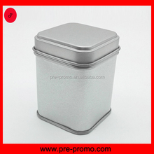 Storage plain square tin box with solid lid