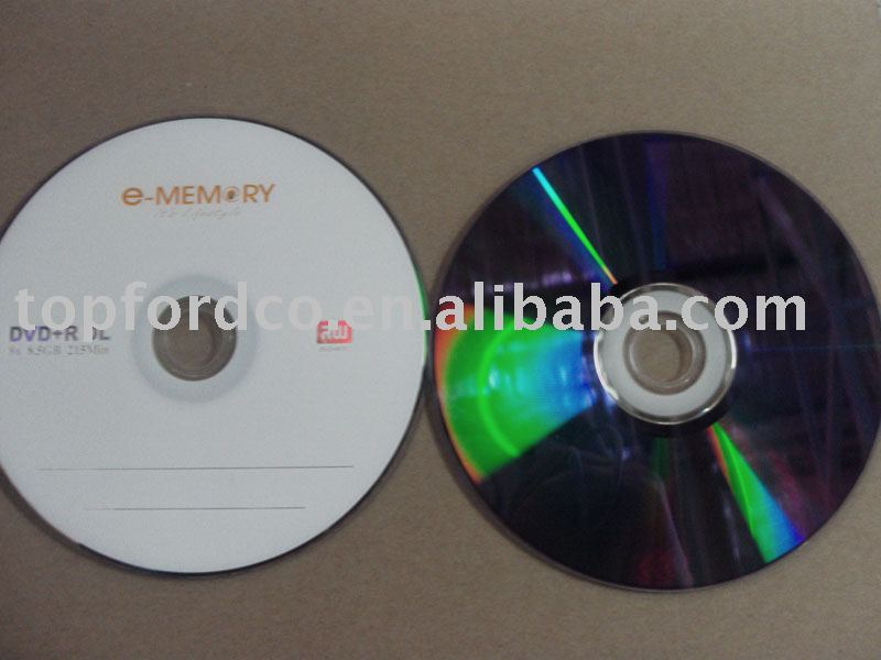 Dual Layer DVD+R 8.5GB Good for Movie