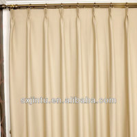 Polyester fabric window curtain plain blackout curtain ready made curtain sun out cortina