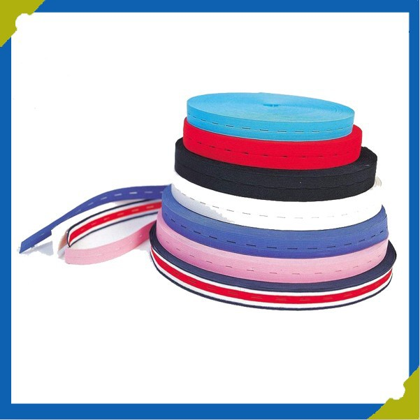 Colorful Underwear Elastic Stretch Nylon Webbing Ribbon Tape With Holes
