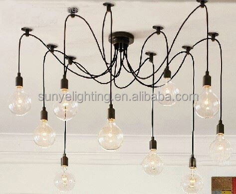 Simple Vintage Industrial antique chandelier crystal stones