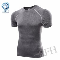 Pro Fit Short Sleeve Shirts O-Neck Gym Fitness Sports T Shirt For Men