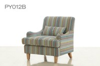 2016 sofa chair PY012B new fabric sofa chair french style armchair wooden armchair