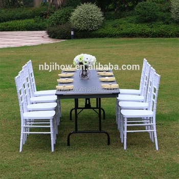 strong high quality plastic chiavari chair with metal pipe for wedding rental company
