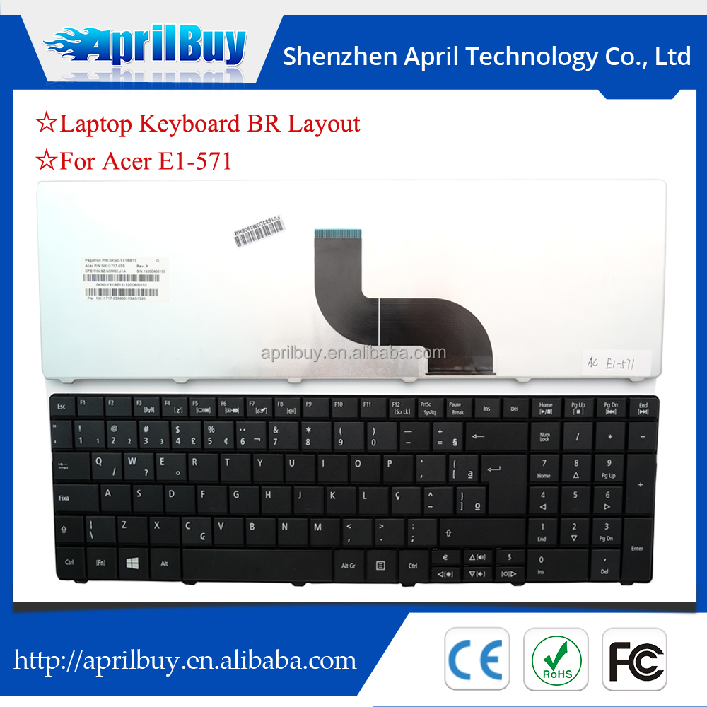 For acer E1 E1-531 E1-571 laptop keyboard BR layout New