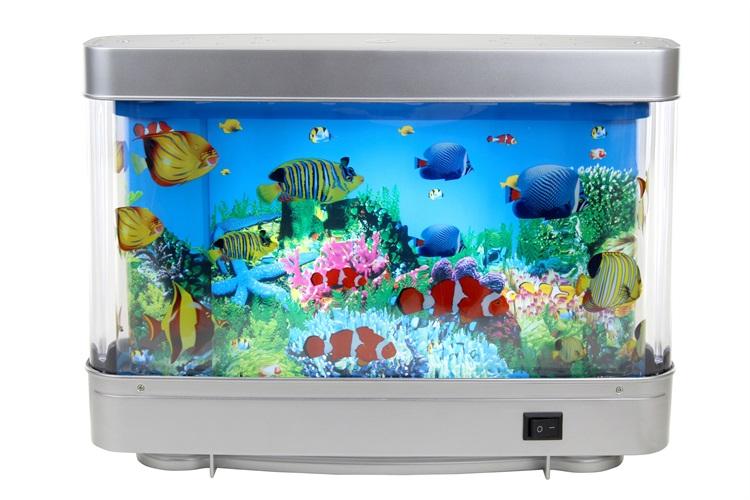 nice gift led aquarium light 6w abs fish tank led lights ForFake Artificial Aquarium Fish Tank