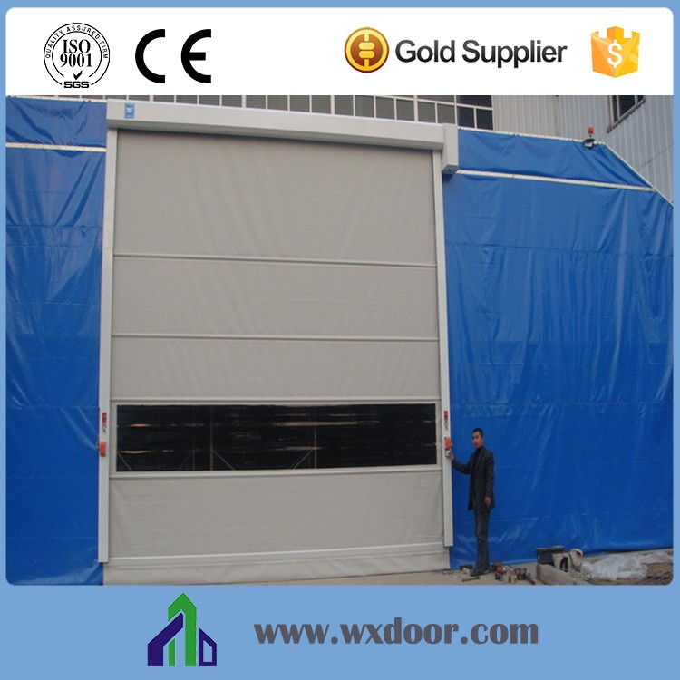 PVC folding fabric shutter gate door|Automatic roll up sectional door China suppler