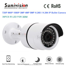 New Design IP66 36pcs LED white metal bullet casing H.265 cctv 4mp ip p2p network camera
