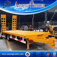 10 Tons excavator transport low loader trailer, 2 axle drawbar trailer for sale
