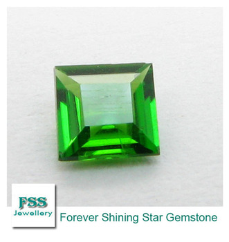 Chrome Diopside AAA Square Cut Calibrated Gemstones 8mm*8mm