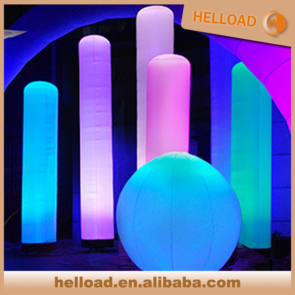wholesale led lighting decorative inflatable wedding columns