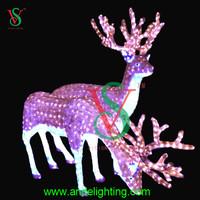 3D animal led light large lighted acrylic elk reindeer for garden decoration