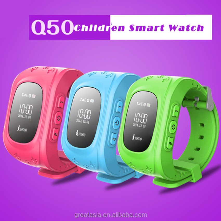 Q50 Children Watch For Android / IOS Single SIM GPS GSM Locator Anti-lost Kid Call Smart Wrist Watch Phone GPS Tracker SOS
