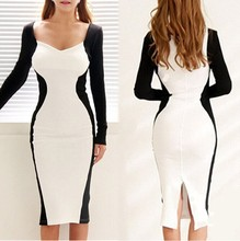 S63641A High quality long sleeve dress beautiful official dresses for women