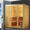 HS-SR008 finland pine hot sale full hd sek tv sauna room,dry sauna
