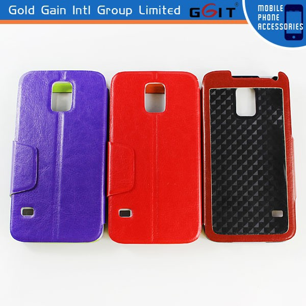 Best Quality Flip Cover Case For Samsung for Galaxy S5 G900F, for Samsung S5 Cell Phone Case