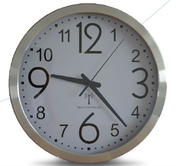 atomic Wall Clock ,DCF wallclock,aluminium round wall clock