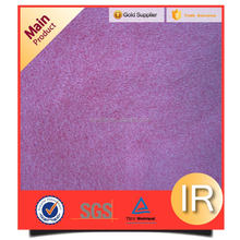 ionic pink plain short pile plush fabric for toys and garments