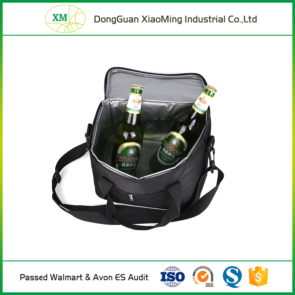 high quality portable insulated water proof beach wine beer bottle lunch cooler bag